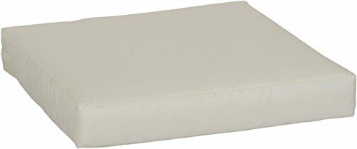 Gartenstuhl-Kissen Premium Lounge Sitzkissen Palettenkissen in beige ca. 60 x 60 cm ca. 9 cm dick aus 100% Polyester wasserabweisend