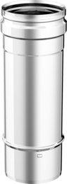 Articolo fumisteria Linea 'Legna' e 'pellet': elemento lineare T250 acciaio inox,diametro 120 mm, lunghezza 250 mm