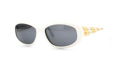 Chopard C534 6063 weiße quadratische Vintage-Sonnenbrille für Damen