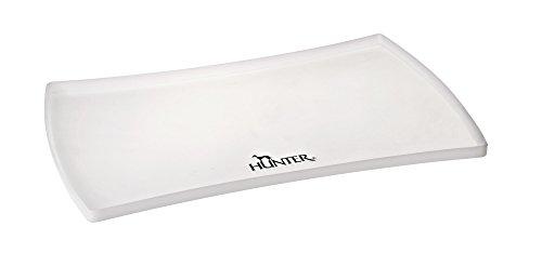 HUNTER SELECTION Napfunterlage aus Silikon, Bodenschutz, hoher Rand, 60 x 40 cm, transparent