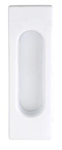 Poignée coquille d'entrée pour porte coulissante Poignée carrée Porte coulissante Blanc mat–Modèle 3663| 125x 40mm | Meubles Poignées de Juva®