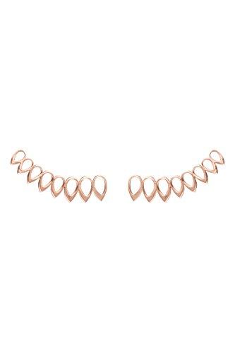 Córdoba Jewels | Pendientes en plata de ley 925 bañados en oro rosa. Diseño Hojas Rose Gold
