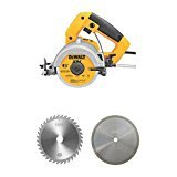 DEWALT - DW862-110mm (4 Inch) -Heavy Duty Tile/Wood Cutter Machine + 1 Pc. (Wood + Tile) Cutting Blade Free
