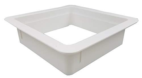 Lowest Price! 4 White Vertical Leg Garnish Ring Trim rv roof Vent - 90094