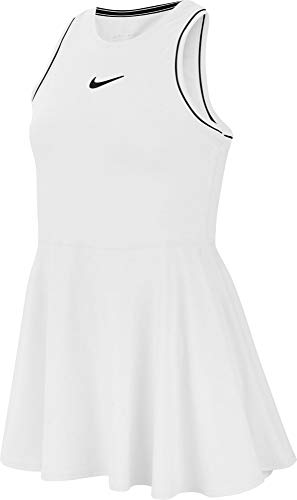 Desconocido Mädchen G Nkct Dry Dress Kleid, Weiß/Schwarz/Schwarz, S