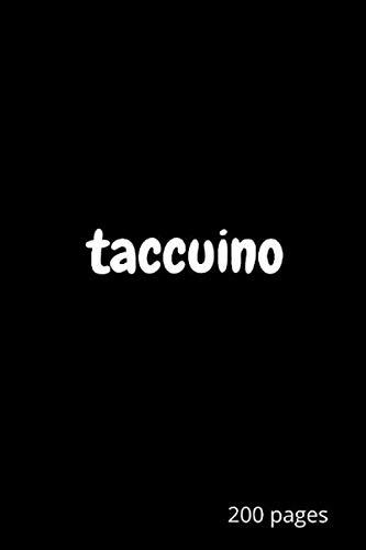 Taccuino: Un semplice taccuino nero, taccuino dello scrittore, 200 pagine a righe bianche, dimensioni (6x9