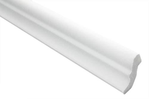 Zierleisten Sparpaket E-6 | leicht und stabil | extrudiertes Styropor | Stuckprofile | Decken-/ und Wandübergang | modern weiß | dekorativ | XPS | 32 x 33 mm | 20 Meter