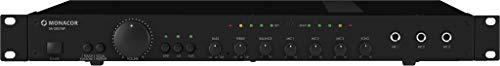 MONACOR SA-250/SW Universal-Stereo-Mischverstärker, 2 Kanäle, 3 Stereo-Line-Eingänge, 100W schwarz