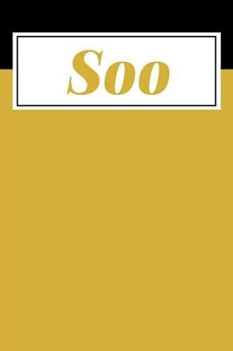 Soo: Personalized Sketchbook with Name Soo | Drawing Sketch Book/ Workbook Gifts for Soo