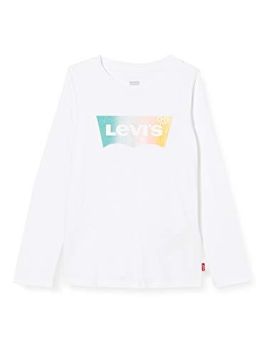 Levi's Kids Lvg Ls Tee Shirt Camiseta Niñas White 14 años