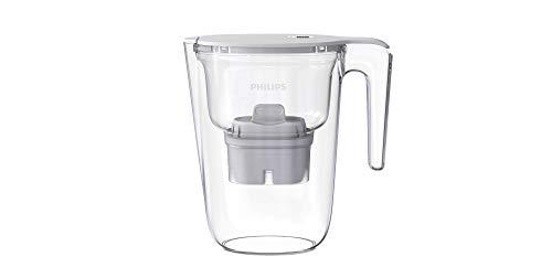 Philips - AWP2935 - Jarra filtradora de agua, Incluye 1 cartucho Micro X Clean, Reduce la cal, el cloro y los Microplásticos y PFOA, Agua filtrada con gran sabor y pureza, 2,6 Litros ⭐