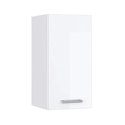 Vicco Küchenschrank Hängeschrank Unterschrank Küchenschränke Küchenunterschrank Arbeitsplatte, Möbel verfügbar in anthrazit und weiß (weiß ohne Arbeitsplatte, Hängeschrank 30 cm)