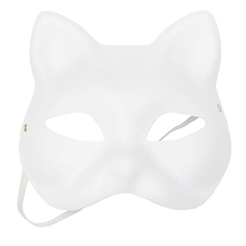 Bright Creations Blank DIY Masquerade Craft Cat Masks for Halloween (24 Count)