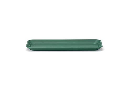 Stewart - Sottovaso per fioriera da Balcone, 50cm, Colore: Verde