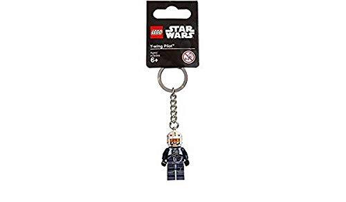 Lego, portachiavi a tema Star Wars, omino di pilota y-wing,prodotto ufficiale LEGO