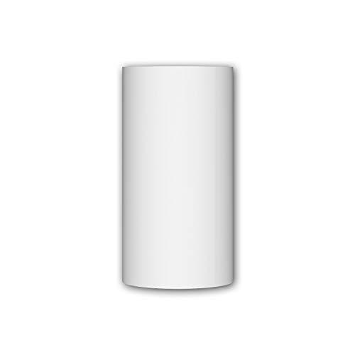Segmento de columna Profhome 412002 Moldura de fachada Columna Elemento de fachada estilo toscano blanco