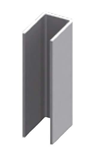 Perfil en U de acero inoxidable para mampara de ducha de 2200 mm perforado – 8 mm