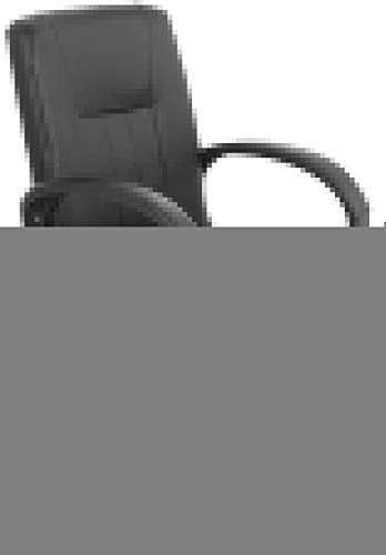 WYL Leather Desk Gaming Chair Bow Foot Ergonomic Office Desk Chair High-back Executive Chair for Office Meeting Room Bearing Capacity: 330 Pounds (Color : Black)