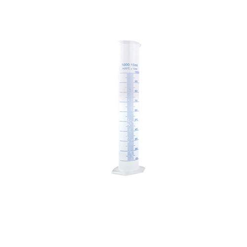 Cilindros Graduados De Plástico Transparente 1000 Ml De Ciencia De Medición De Ensayo De Ensayo Ideal Ideal Transparente De Plástico De Medición De Cilindros De Medición De Líquido Para El Laboratorio