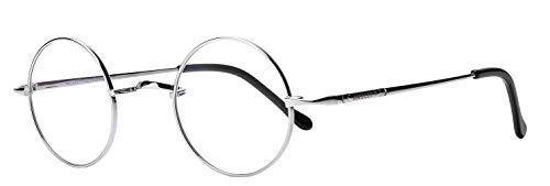 AMILLET Gafas de titanio con montura circular redonda sin receta