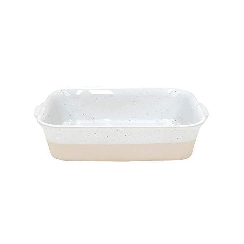 Casafina Fattoria Collection Stoneware Ceramic Small Rectangular Baker White L9.75'xW6.85'