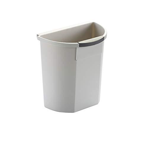 xuejuanshop Kitchen Trash Can Kitchen Garbage Hanging Trash Can Plastic Trash Bin Kitchen Office Garbage Storage Container Trash Can (Color : Gray)