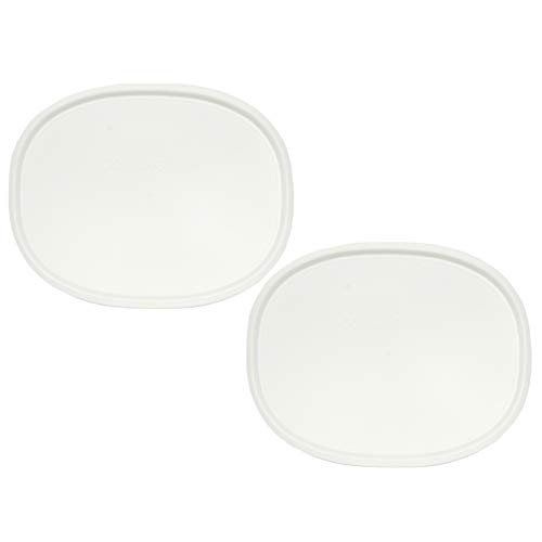 Corningware F-12-PC 1075645 1.5qt Oval French White Lid (2-Pack) -  F-12-WH_2