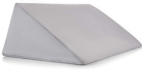 Luxury Small Wedge Pillow, Positioning Pillow, Positioning Wedge, Foam Wedge, Pregnancy Wedge, Made in USA, Medical Wedge Pillow, Position Pillow, Ramp Pillow, Tablet Pillow, Knee Pillow, Gray