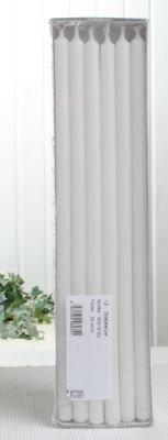 CandleCorner Stabkerzen, 30 x 1,2 cm Ø, 12er-Pack, weiß