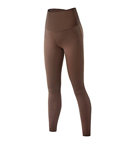 LAPASA Malla Deportivo Invierno, Pantalón Deportivo Mujer con Vello Ligero, Cintura Alta Leggings para Running Yoga y Ejercicio L36A1 Versión 2021