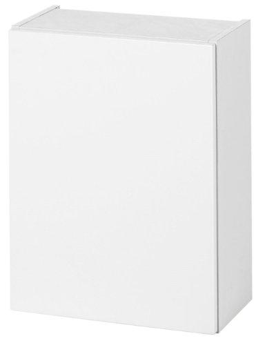 Held Möbel 566.0001 Siena Hängeschrank 1-türig 2 Einlegeböden, 40 x 65 x 20 cm, Hochglanz-weiß