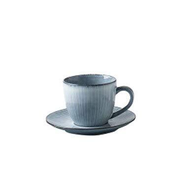 Vajilla Cuencos Platos Para Pastel Vajilla de cerámica a rayas Plato Cuenco Línea de personalidad Sopa usada en el hogar Cuenco de arroz Plato Plato Taza