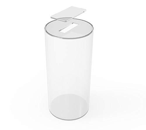 FixtureDisplays Donation Can Fundraising Jar Clear Acrylic Plexiglass 15703D-NF