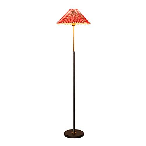 zdz Amarillo 12w DIRIGIÓ Lámpara de pie, Control Remoto Smart High Pole Ajustable Color Temperatura Luz de Piso, para Dormitorio, Sala de Estar (Color : Red)