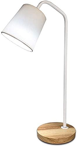 Lámpara de escritorio Lámpara táctil, lámpara de mesa flexible, cuello de cisne, lámpara de mesa de troncos, luz de madera, mesita de noche, lámpara de mesa, lámpara de mesa flexible, lámpara de mesa