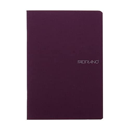 Fabriano EcoQua Notebook, Small, Staple-Bound, Blank, 38 Sheets, Wine
