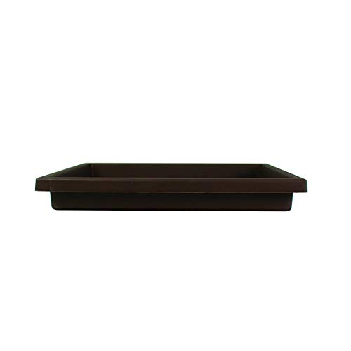 Accent Square Planter Saucer - The HC Companies 15.5-Inch Flower Pot Drip Trays for Planters, Pairs w/ 15.5' Chocolate Accent Planter ROS15500E21 Chocolate (SRO15500E21)