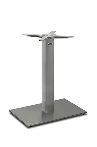 Edelstahl Tischgestell | DUBLINO PD7090inox (Nirosta), satiniert, matt | Tischsäule mit 60 x 40 cm Bodenplatte