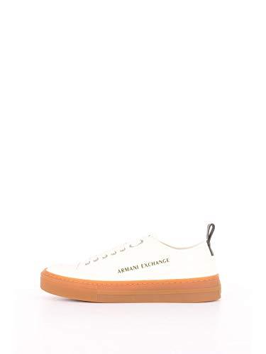 Armani Exchange Herren Recycled COT Sneaker, Weiß (Off White 00894), 44 EU