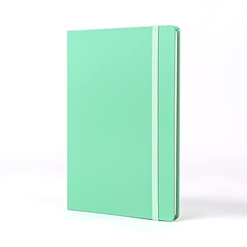 Jumble & Co Moodler - Cuaderno (tamaño A5), diseño de rayas, color verde