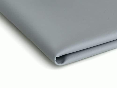 Eco-cuero imitación de cuero natural - 50x140cm - Disponible en una variedad de colores (Gris)