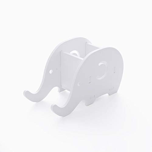 HJHJ Soporte creativo para bolígrafo blanco, soporte creativo para bolígrafo de elefante, se puede utilizar como soporte para teléfono móvil, regalo multifuncional para decoración de escritorio