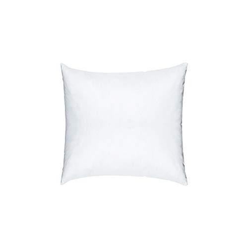 Linum Synthetik Kissen, Baumwolle, weiß, 40 x 40 x 2 cm