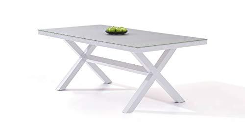 talfa Aluminium Gartentisch in Weiß - IKS 200 cm