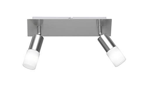 Action plafondbalk, 2-pits, serie: Alvis, nikkel-mat