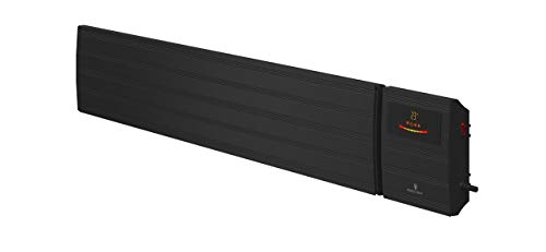 Noble Heat Panther Heizstrahler – 2000W 230V Dunkelstrahler Timer LED-Display Thermostat Fernbedienung – innen außen - schwarz