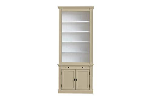 elbmöbel.de - Armario para libros (100 cm), color blanco