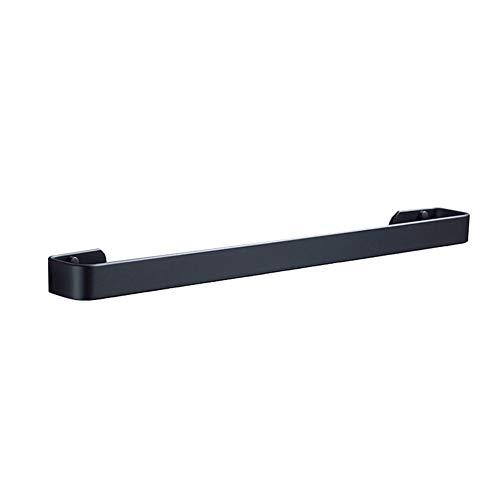 MUZIDP Noir Espace Aluminium Bain Porte-torchons, sans Poinçon Poinçon Barre Porte Serviette pour Salle de Bains Cuisine Office 40cm-C