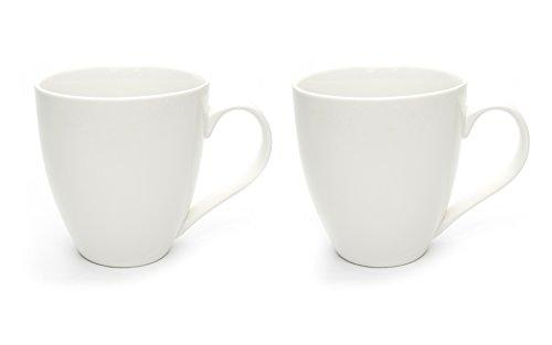 Hausmann & Söhne XXL Tasse weiß groß aus Porzellan | Jumbotasse 500 ml (550 ml randvoll) im 2er Set | Kaffeetasse/Teetasse groß | Kaffeebecher | weiße Tasse 500 ml | Geschenkidee
