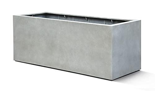 VAPLANTO® Pflanzkübel Box 100 Beton Hell Grau Rechteckig * 100 x 45 x 45 cm * 10 Jahre Garantie